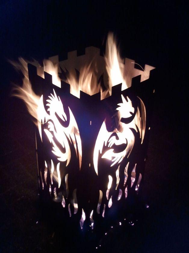 Gartendekoration - Wunderschöner Feuerkorb Feuersäule \ - feuertonne selber machen