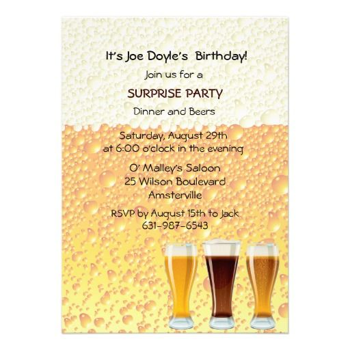 Beer Cheers Invitation – Passion Party Invitation Wording