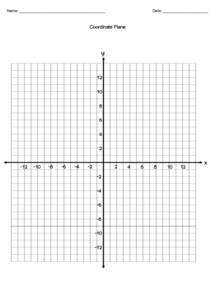 coordinate plane practice sheet and graph paper from my interactive
