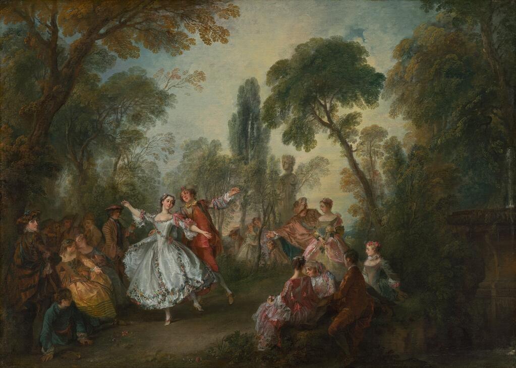 Happy bday, Nicolas Lancret! The female dancer is Marie-Anne de Cupis de Camargo, a ballet star of the Paris Opéra.