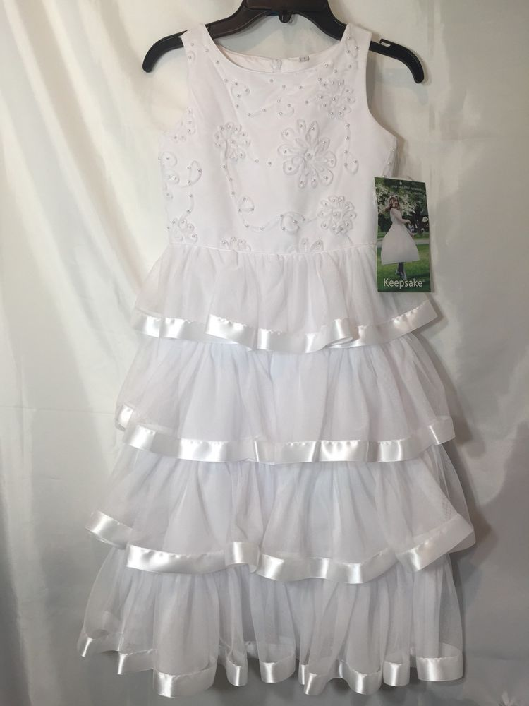 White Dress Girls Size 7