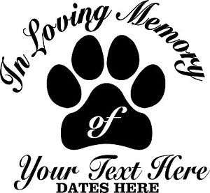 Picture In Memory Of Decals Dog In Loving Memory Decal Sticker Pet Dog 4 Laptop Window Auto Truck Dog Decals Vinyl Decals Vinyl Decal Stickers