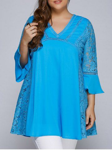 GET $50 NOW   Join RoseGal: Get YOUR $50 NOW!http://www.rosegal.com/plus-size-tops/lacework-splicing-hollow-out-plus-846151.html?seid=6833286rg846151