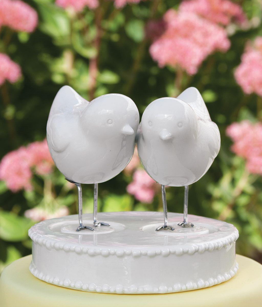 Too Cute Handmade Love Birds Cake Topper Wedding Decorations