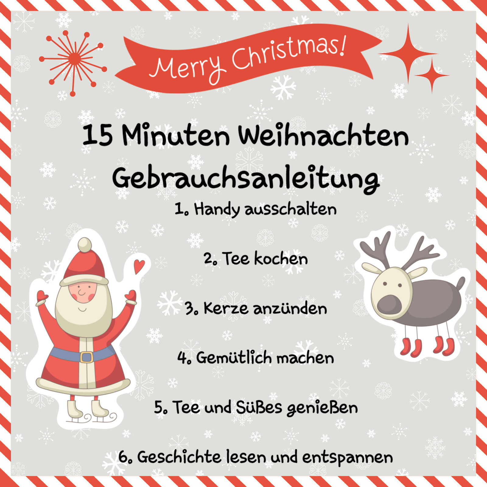 15 Minuten Weihnachten... eine der nettesten Weihnachts Geschenke überhaupt. #weihnachtssprücheschöne