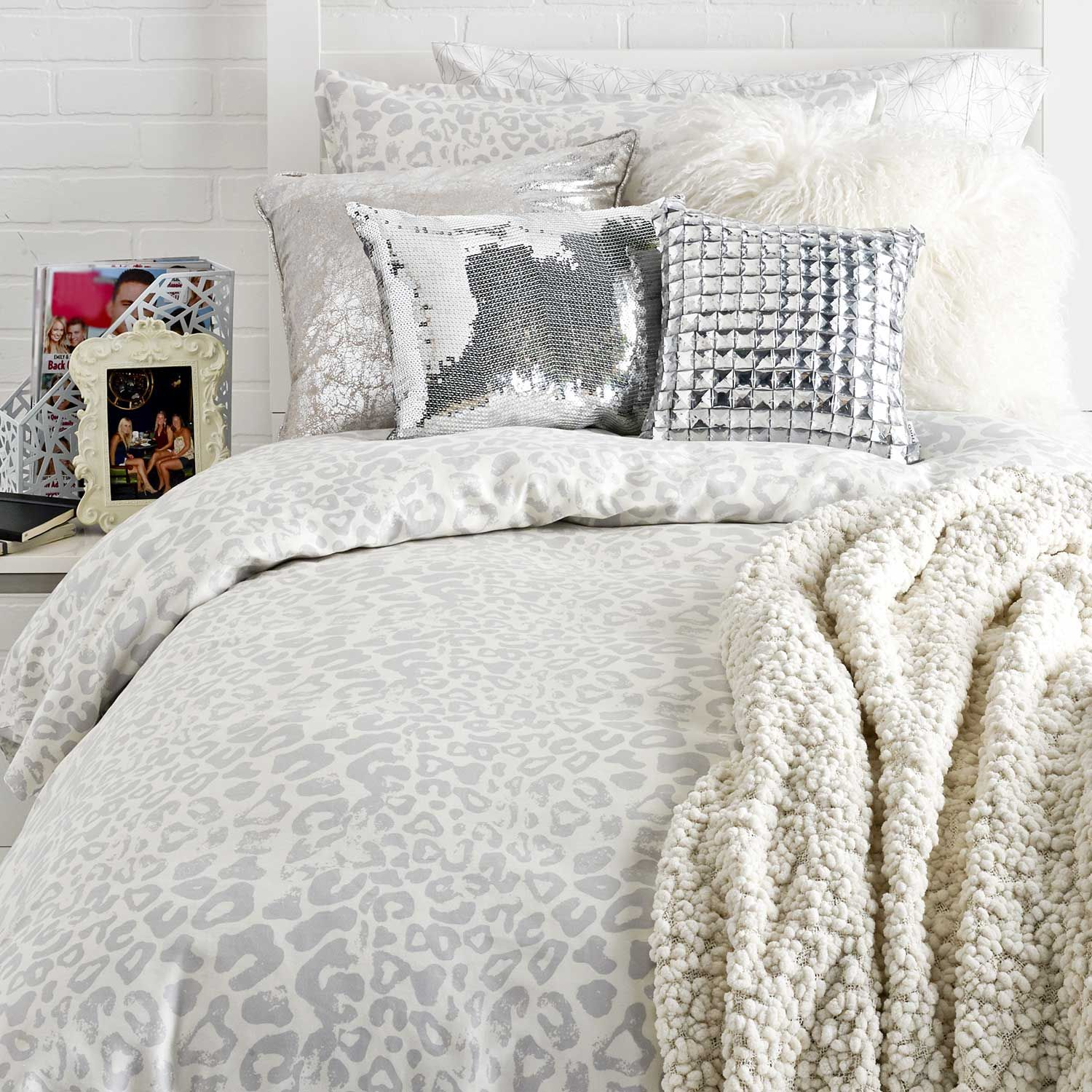 Snow Leopard Duvet Cover And Sham Set Quilt Bedding