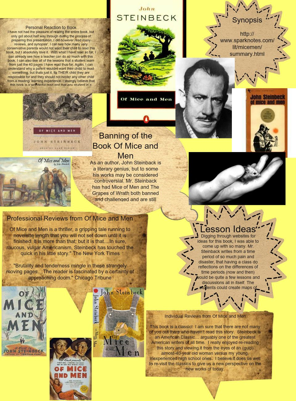 prejudice and segregation in of mice and men Steinbeck suggests that prejudice and discrimination are just part of american life of mice and men suggests that people who are discriminated will cut each other down rather than band together.