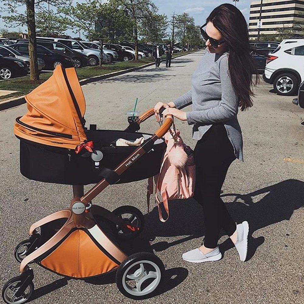 Luxury Stroller 3 in1 Baby Stroller Pram Travel System,100