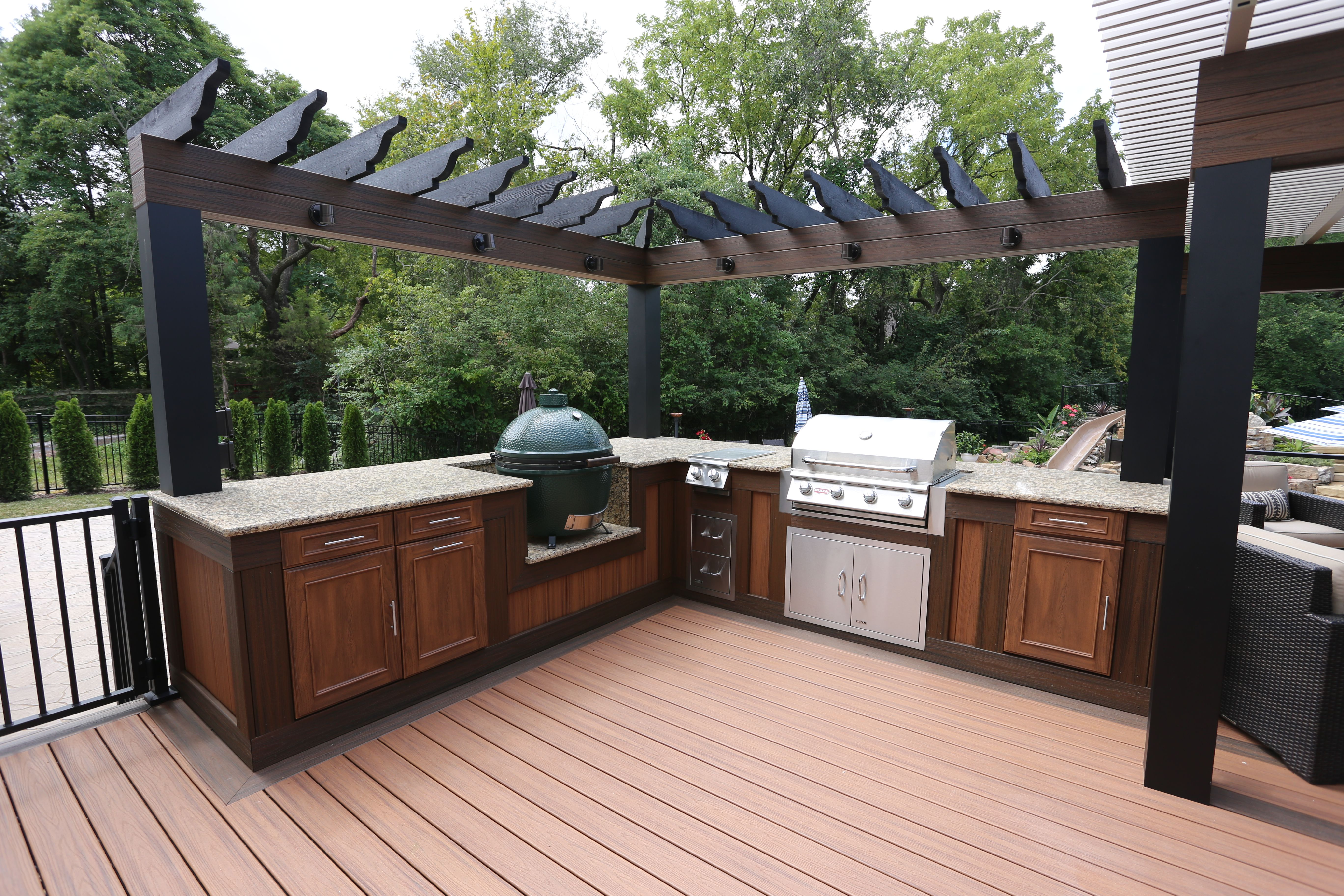 composite deck with outdoor kitchen in st louis mo composite decking deck outdoor kitchen on outdoor kitchen on deck id=26331