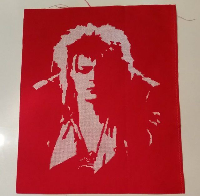 My Stitch In Progress Jareth (David Bowie) The Gobblin King, From The Labyrinth