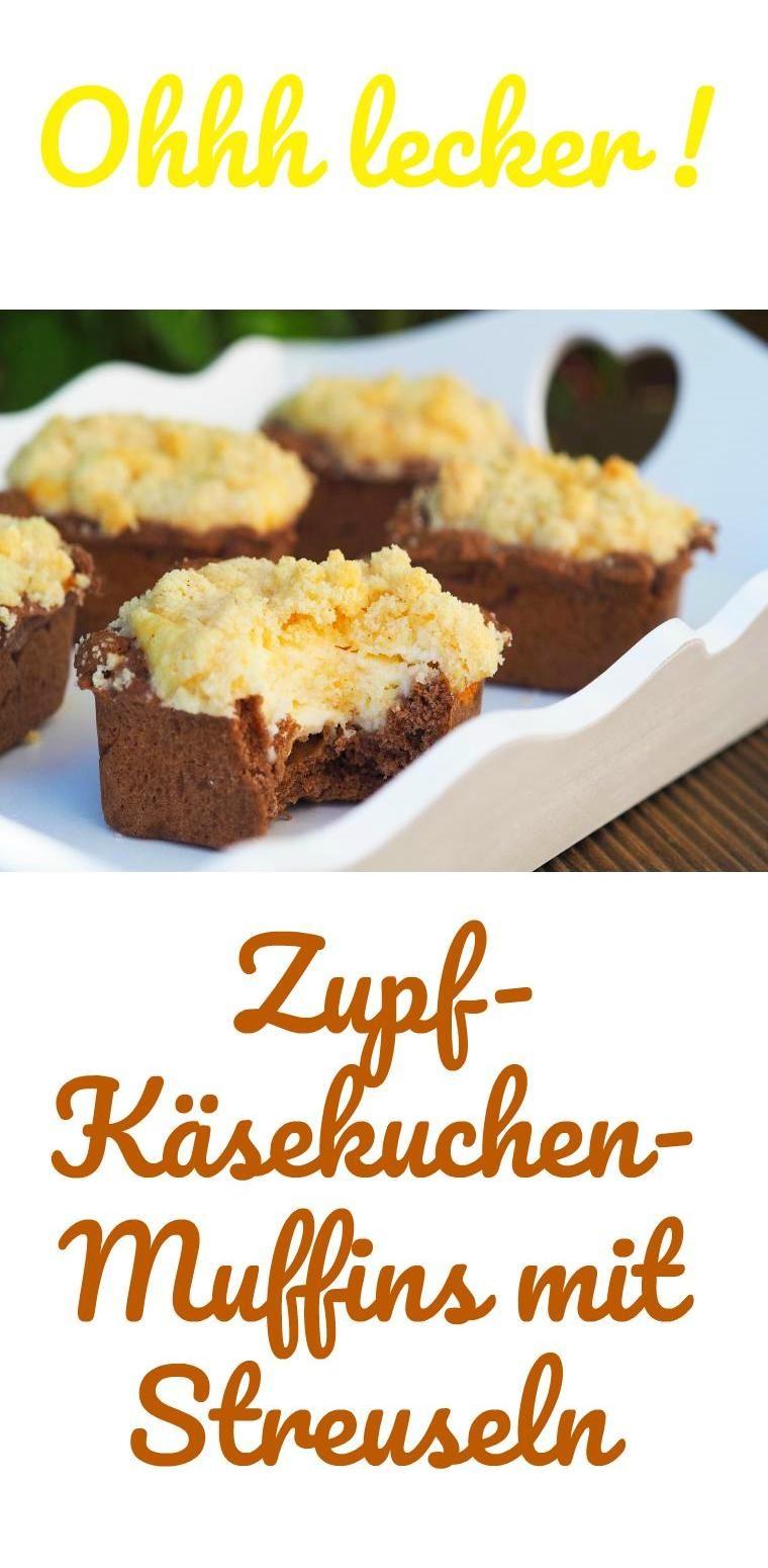 Zupf Kasekuchen Muffins Mit Streusel Rezept Muffins Pinterest