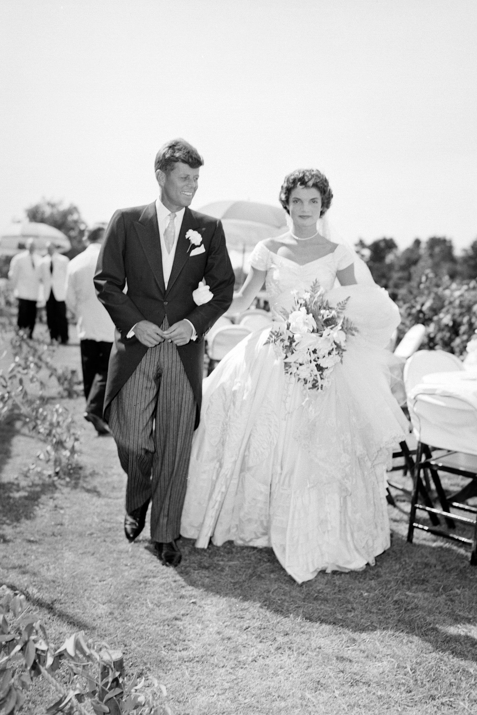 Jackie kennedy wedding dress on display  The  Most Iconic Wedding Gowns In History  Gowns Weddings and