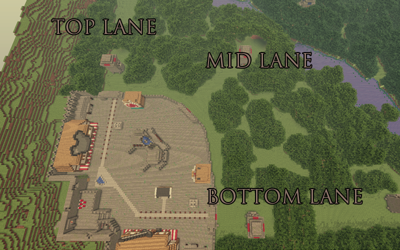 Minecraft : DOTA - A PvP map that requires no client mods