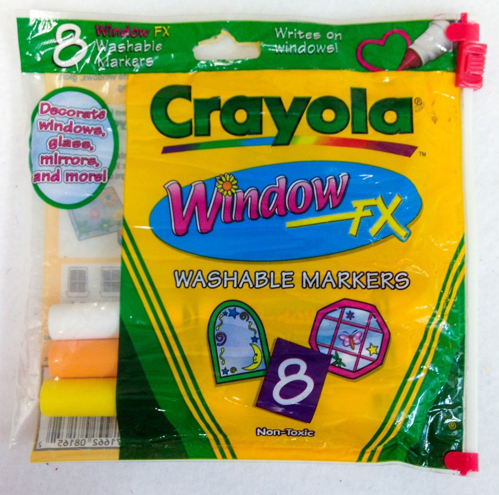 8 Count Crayola Window Markers What S Inside The Box Window Markers Markers Inside The Box