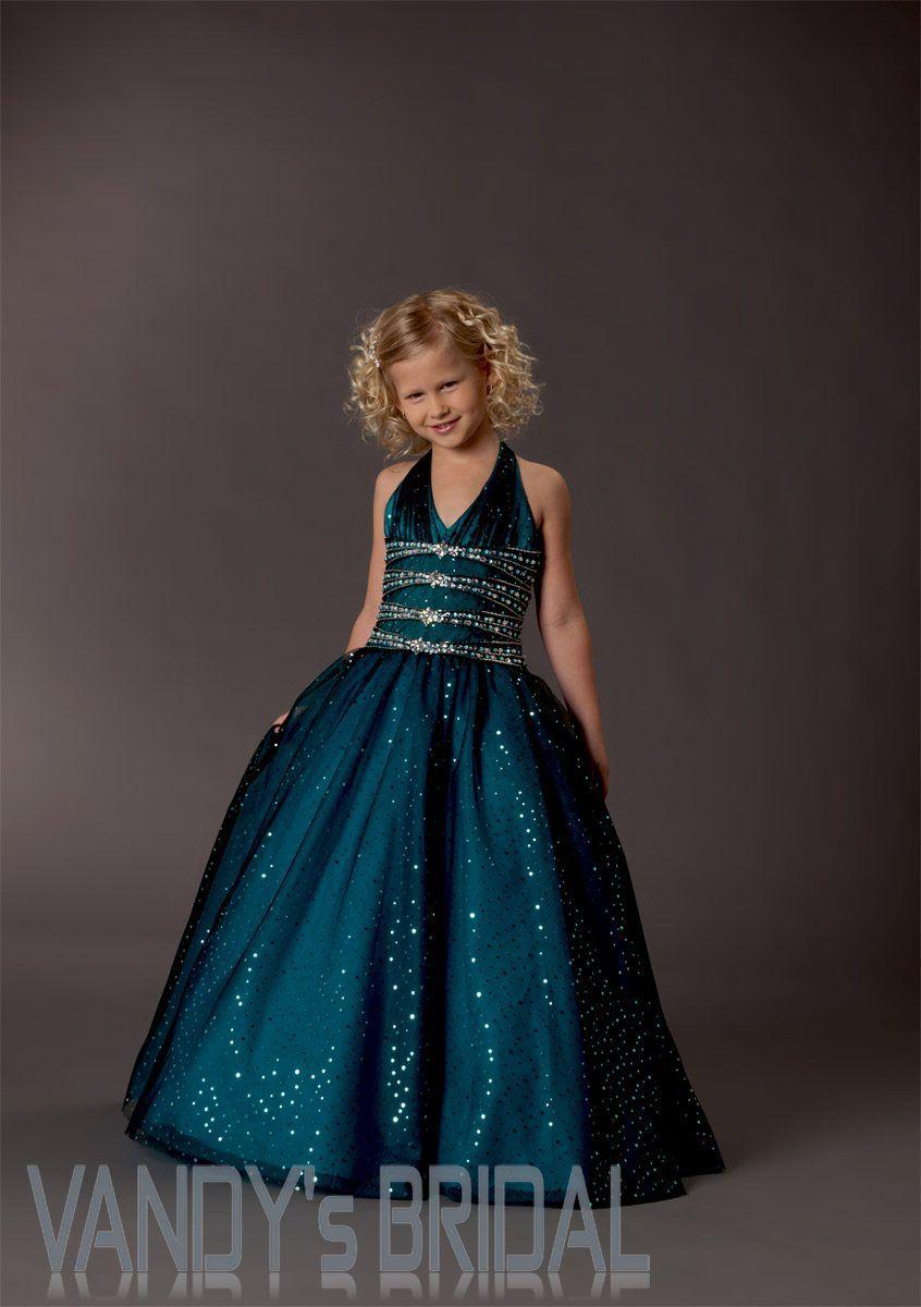 01e5c3aa014 A-Line V-neck Floor-Length Sleeveless Taffeta Darkgreen Flower Girl Dress  (JSAS7967)  JSAS7967  - US 84.99
