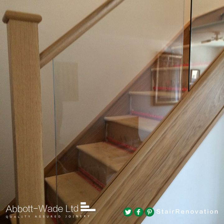 Best Abbott Wade Oak Staircase With Inline Glass Balustrade 400 x 300