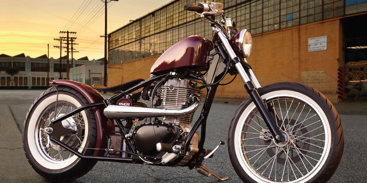 Suzuki S40 Savage LS650 with RR-1 Hardtail Bobber kit by Ryca Motors