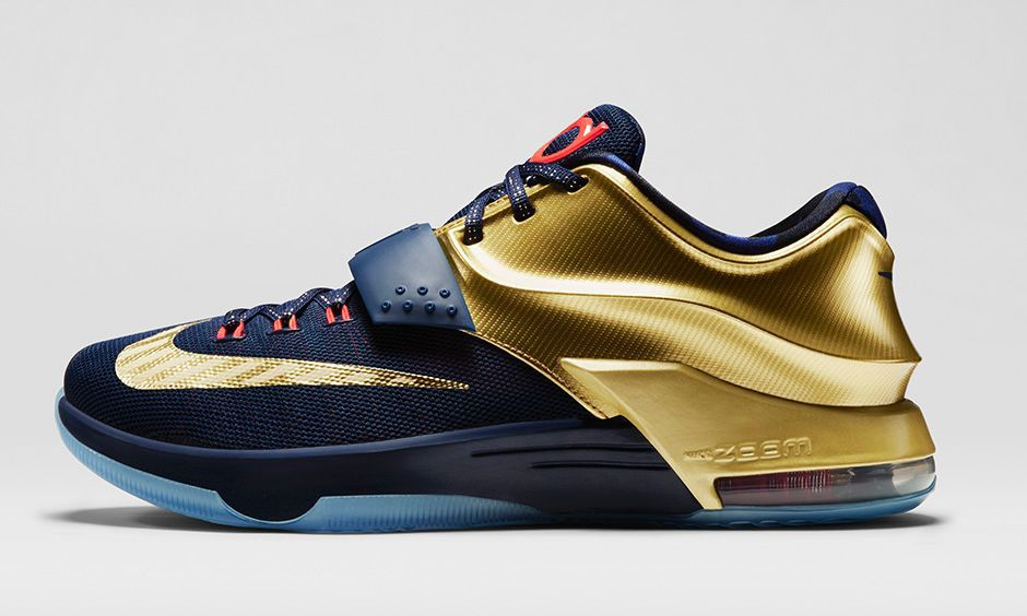 Nike KD 7 Premium Midnight Navy/Metallic Gold Sneaker Available Now (Images  )