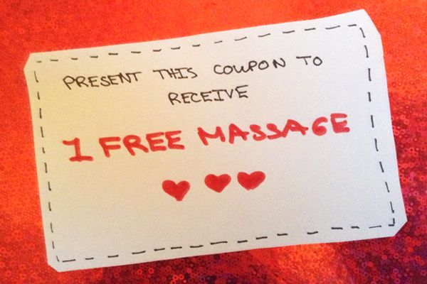 valentines day massage | Try presenting your Valentine's Day gift ...