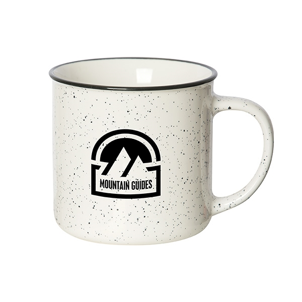 Keep your brand top of mind with this beach house mug. The