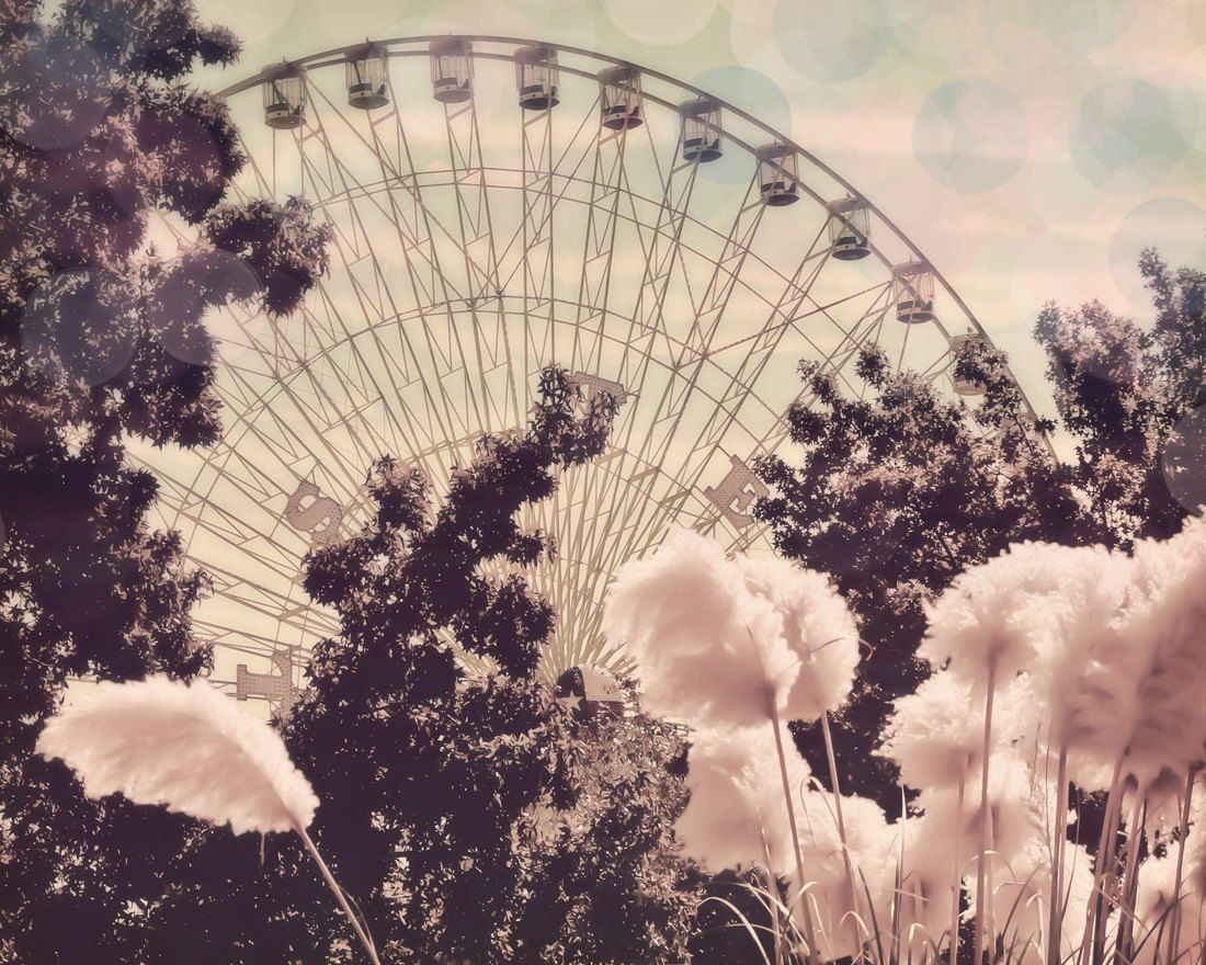 ferris wheel 8x10 photograph cotton candy wheel fine art