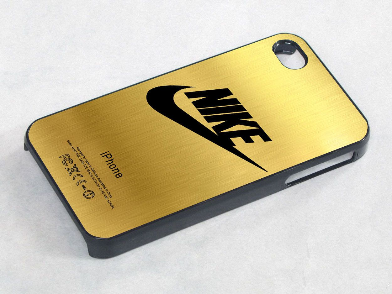 Nike Logo Gold Texture Iphone 4 Case Iphone 4s Case