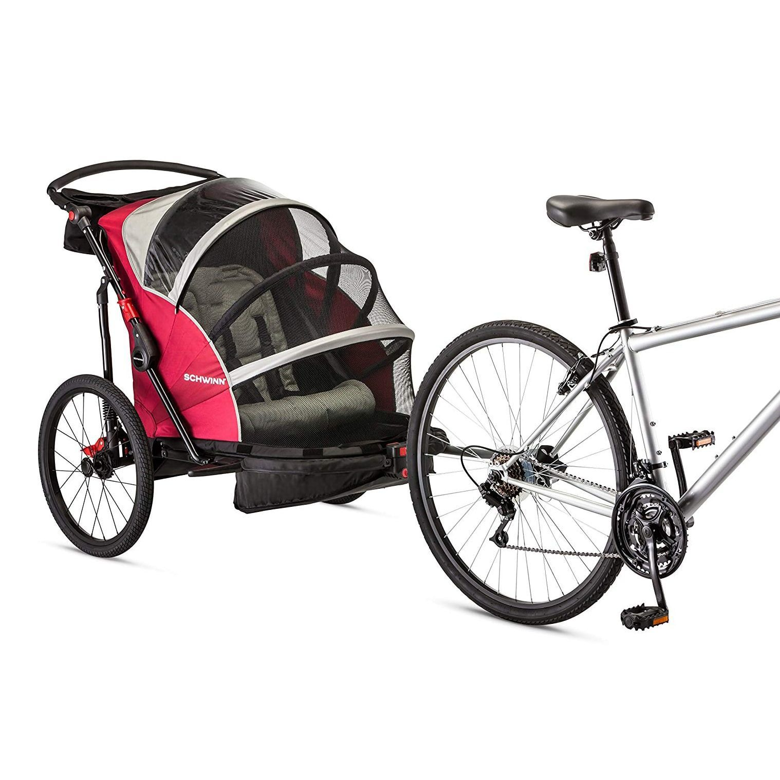 Joyrider double bike trailer from schwinn bikingtrailer