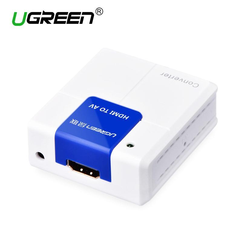Ugreen HDMI to AV RCA Composite Converter Connector 1080P HDMI RCA Adapter Audio video AV Converter For TV PC PS3 VCR DVD PAL