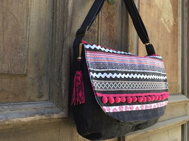 Gypsy messenger bag/ boho satchel bag/ Hippie sling bag/ Gypsy ...