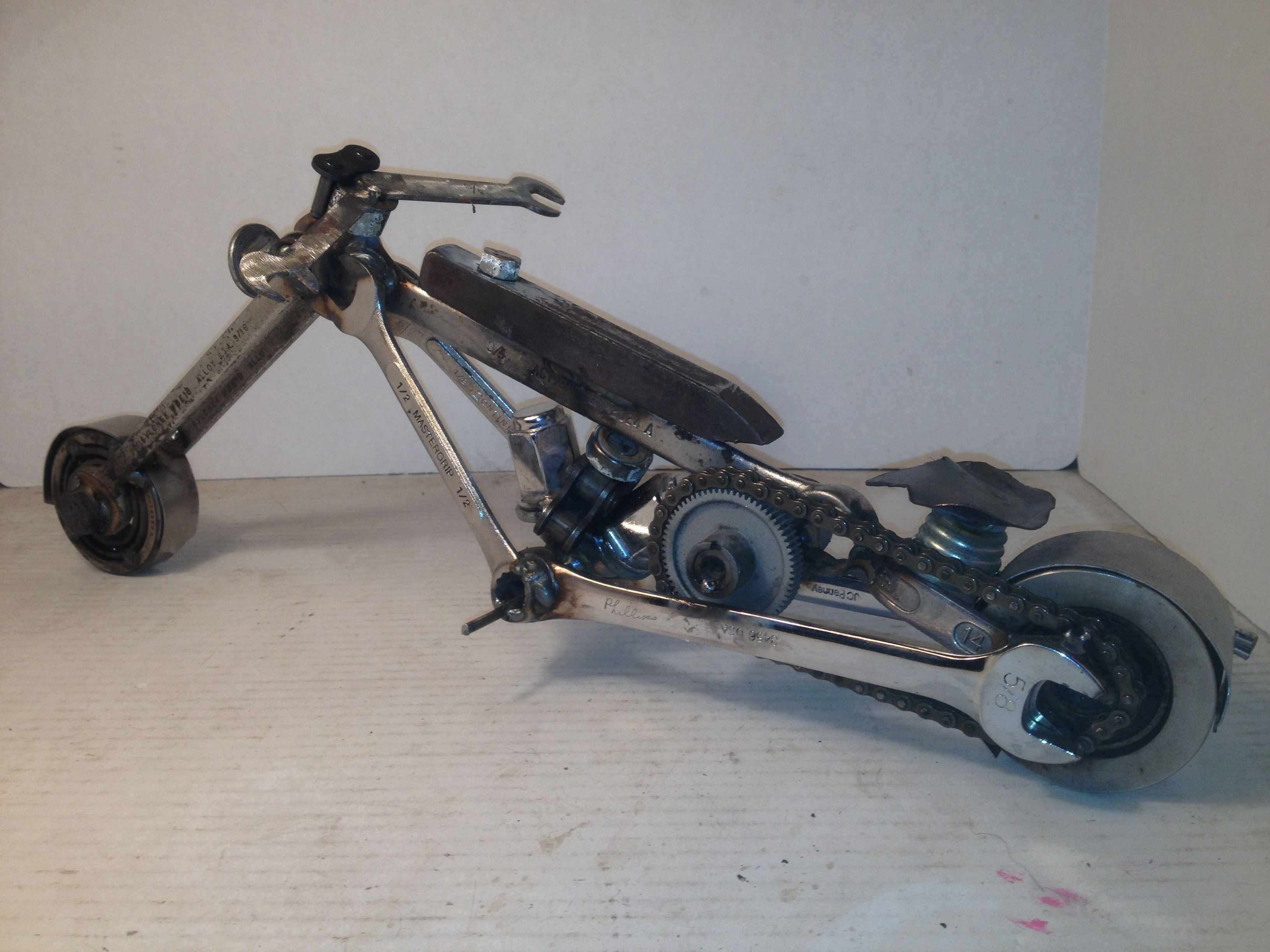 Motorcycle Made From Wrenches Americanmetalart Net Metal Art