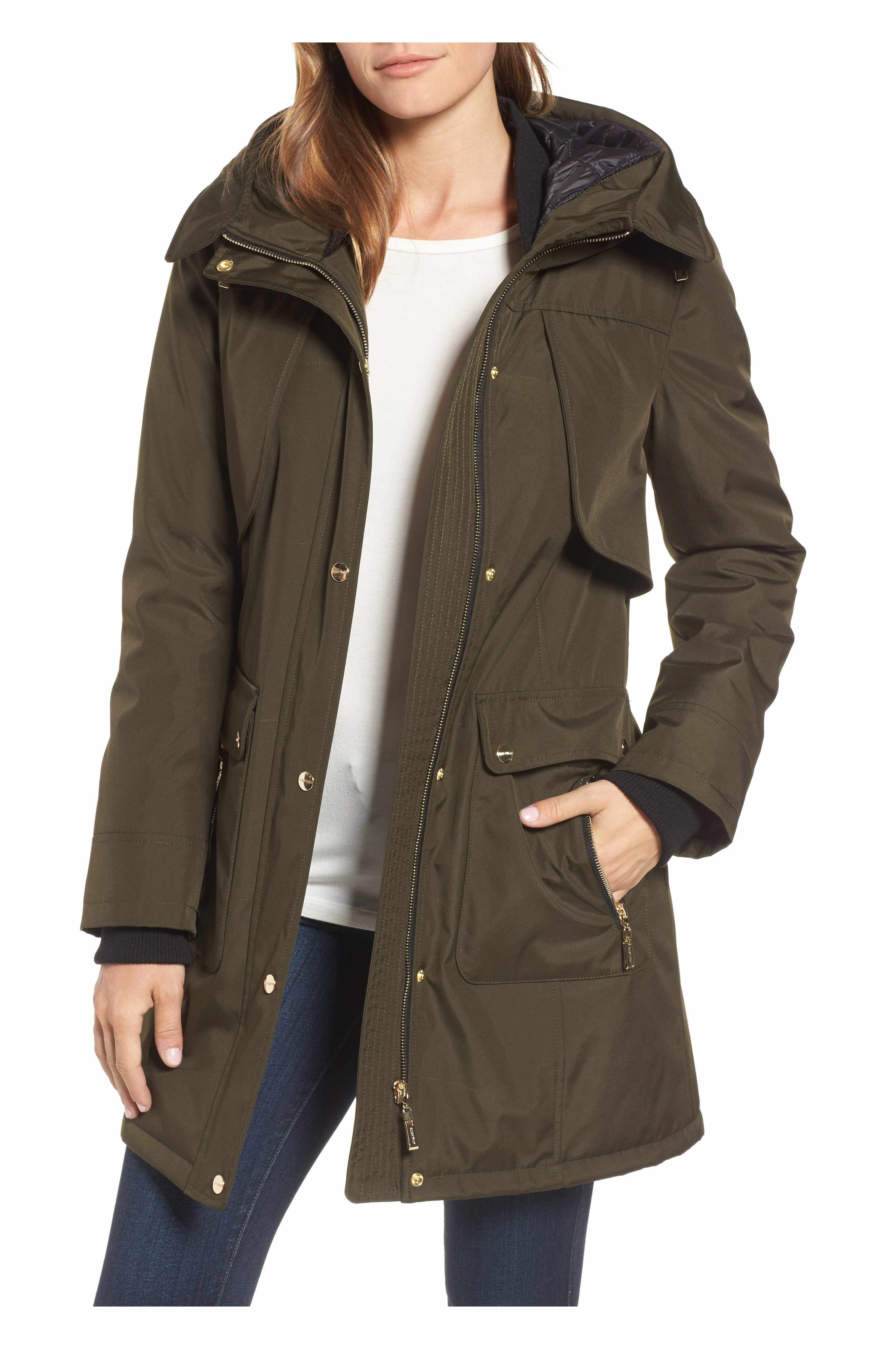 d5e7df65369 Main Image - Ellen Tracy Quilted Techno Parka | fashion | Green ...