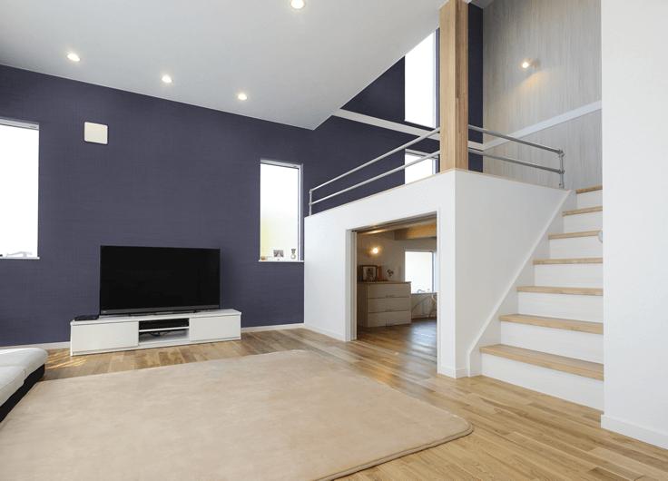 スキップフロアのお家 スキップフロアとは床の高さを半階分ずらして