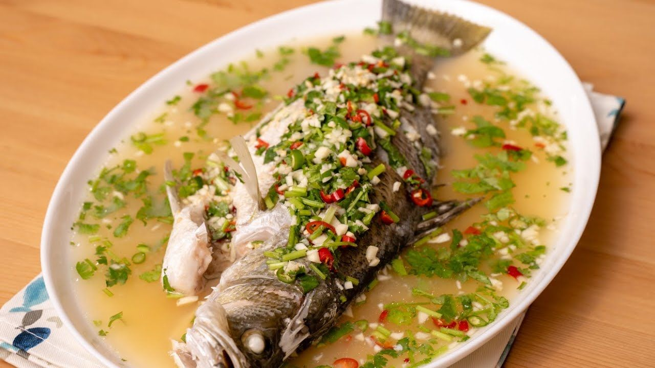 Siakap Stim Limau Ala Restoran Thai Mudah Sangat Dan Sedap Youtube Makanan Ikan Resep Makanan Makanan