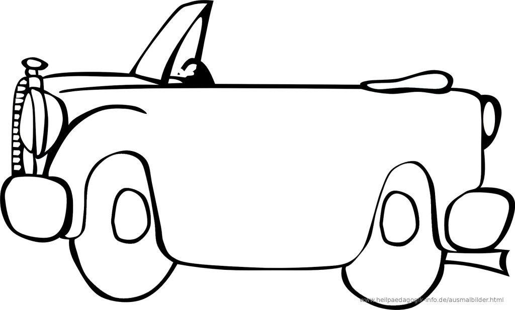 Malvorlagen Cabrio