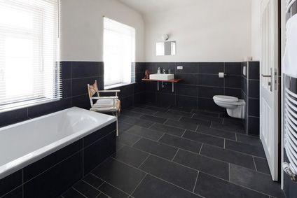 Bad Fliesen Ideen Schwarz Weiß | Möbelideen Badezimmer Fliesen Ideen Grau