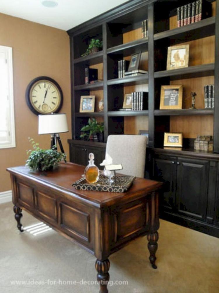inspiring farmhouse bookshelf design ideas decor home office also rh pinterest