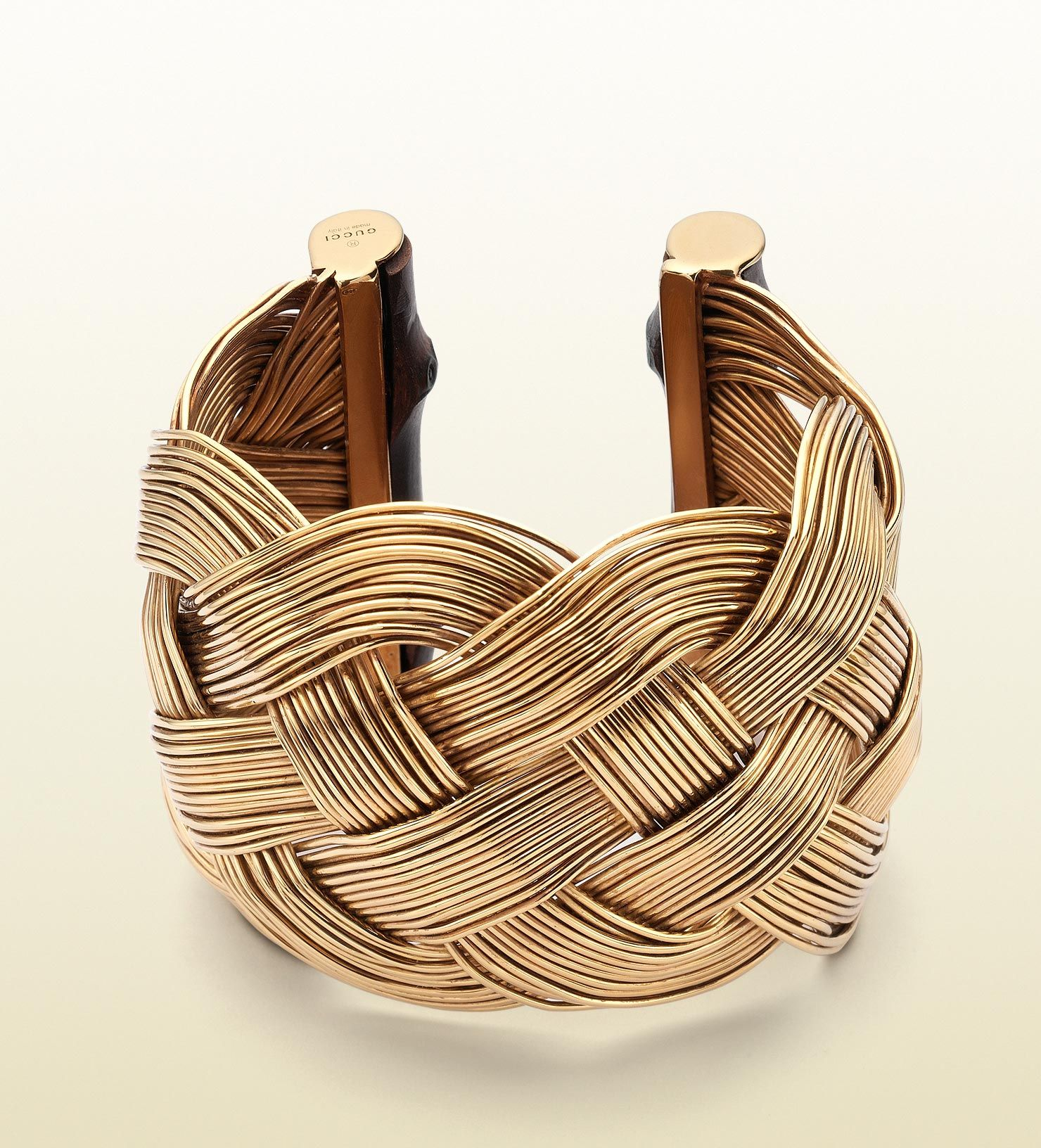 #engagementparty Gucci Bamboo Bracelet with Woven Motif. $2,150. Braided Bangle. @gucci