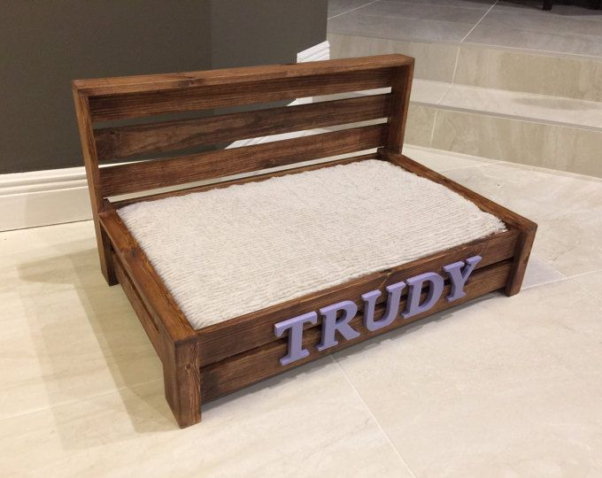 Customized Dog Bed Rustic Dog Bed Wood Dog Bed Pet Bed Etsy