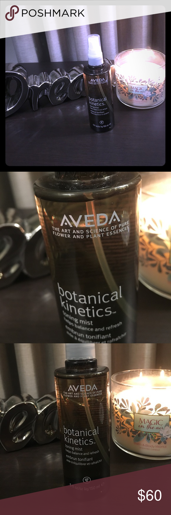 Aveda toning mist Aveda toning mist botanical kinetics. Leading brand in skin care products. Used once or twice. I don't need that expensive of a toning mist. Aveda Other