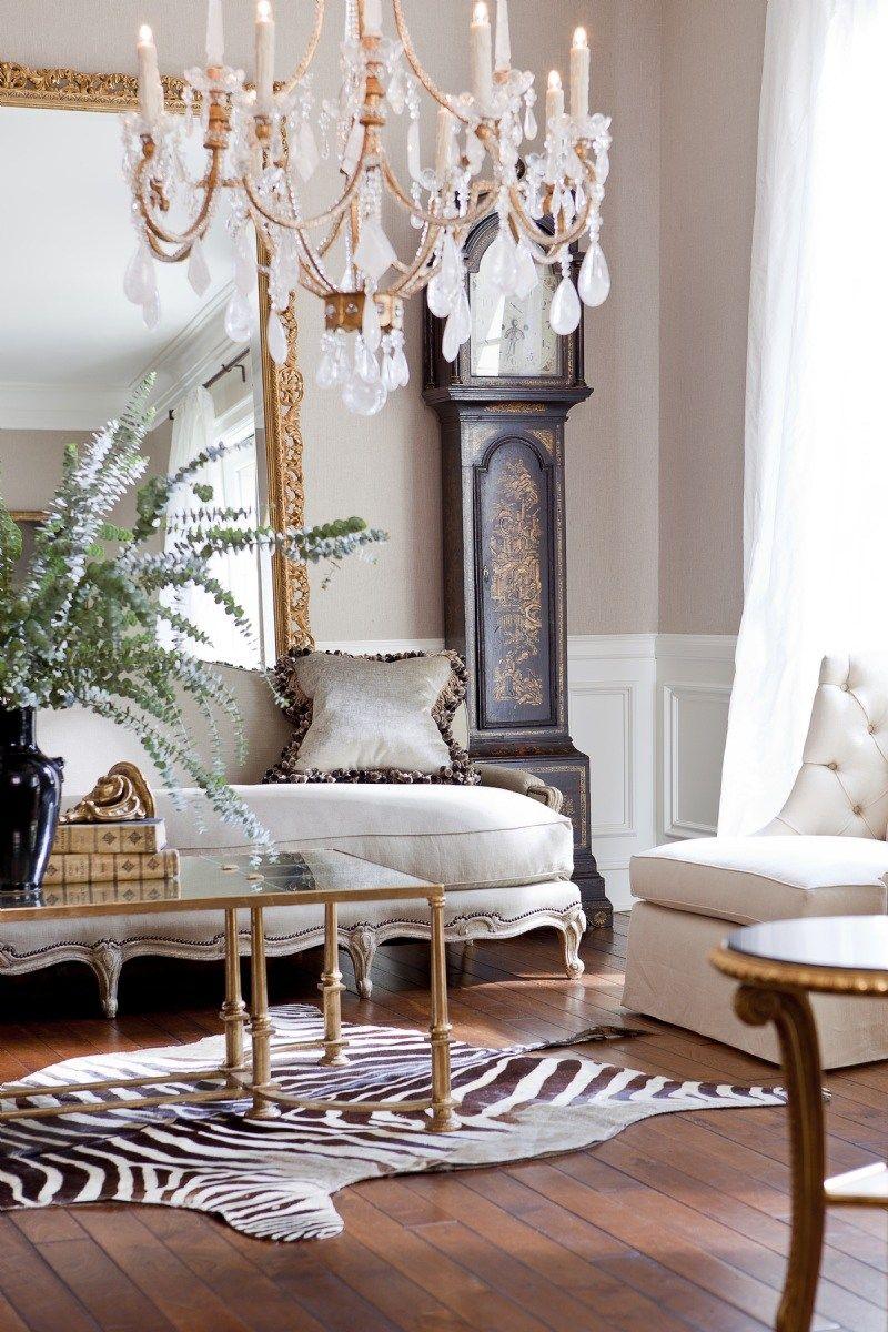 Decorating With Animal Hides Zebra Elegant Room In 2020 Rugs In Living Room House Interior Interior #zebra #living #room #decor