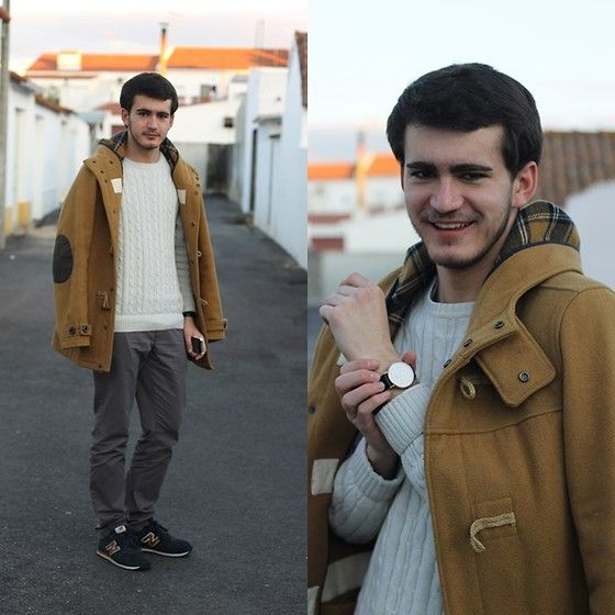 João Galhardo - Daniel Wellington, Pull & Bear Pull&Bear, H&M, New Balance, Primark - Camel on Grey