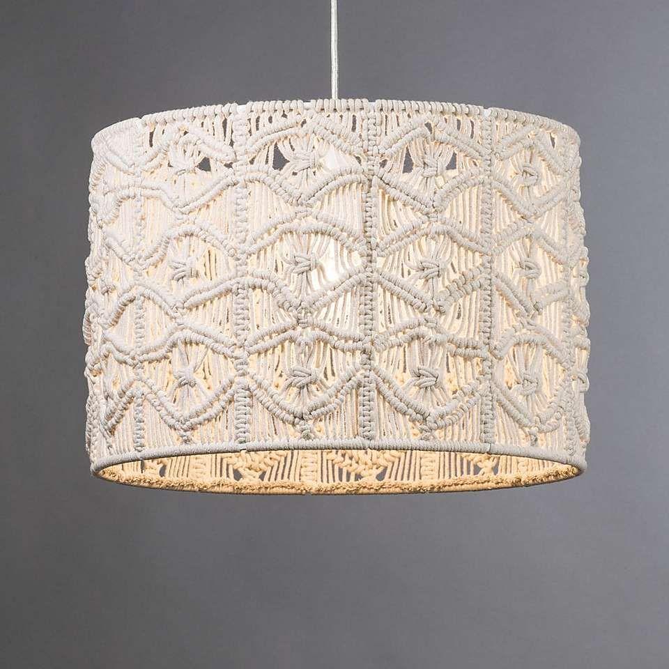 Elements Natural Castro Macrame Pendant Dunelm Macrame Design Macrame Patterns Hanging Lamp Shade