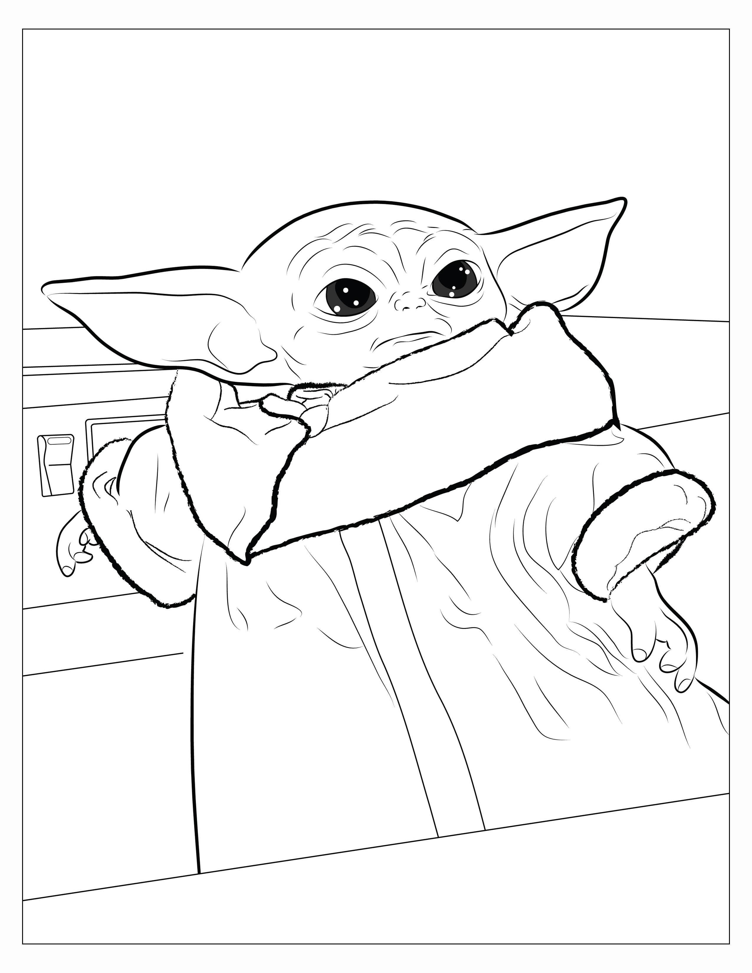 I Made A Coloring Book For My Niece And Here Are 8 Pages You Can Download And Print R Babyyoda Baby Yoda Grogu In 2021 Coloring Book Pages Cute Coloring Pages Coloring Pages