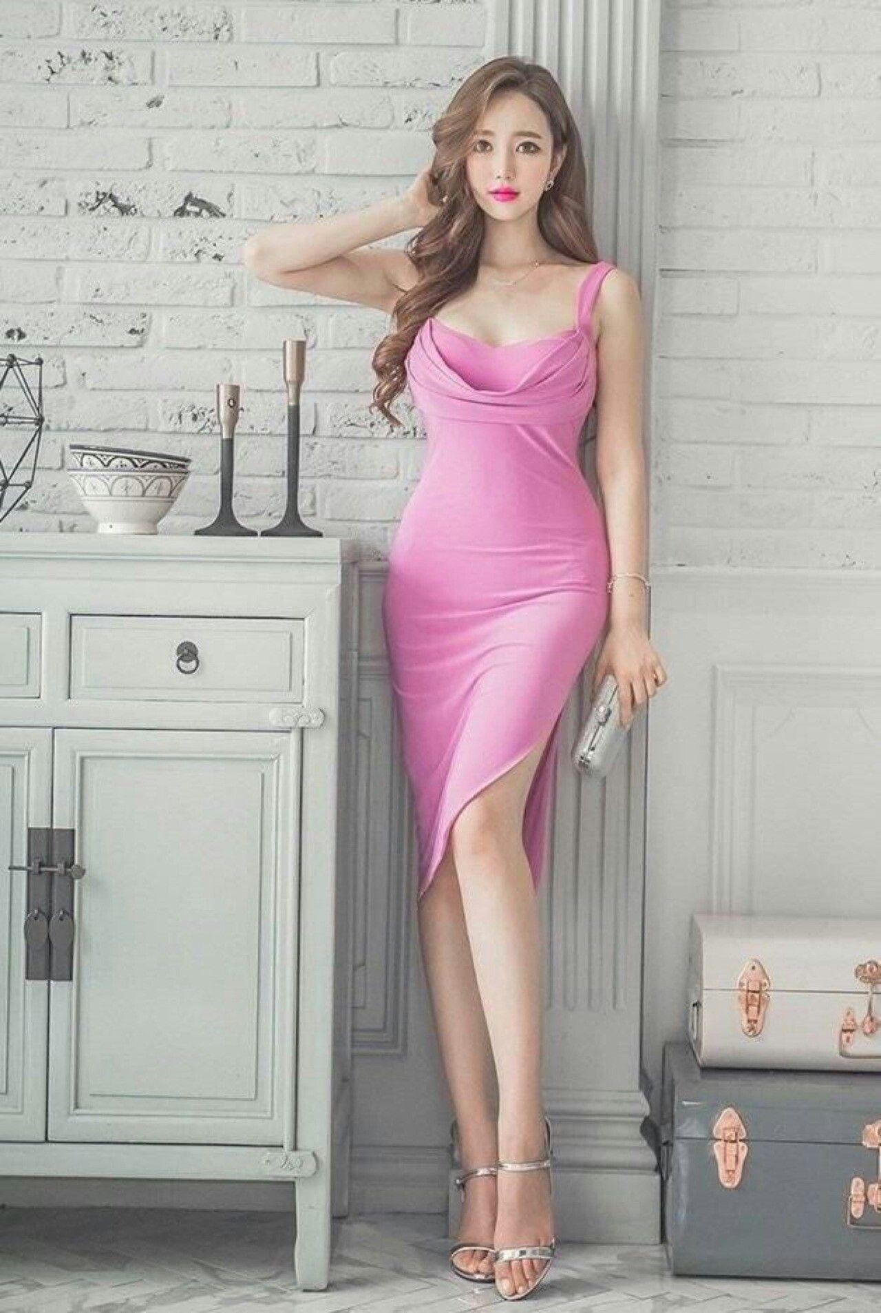 Pin de Rajawali Mma en My sexy girl   Pinterest   Vestido rosado ...