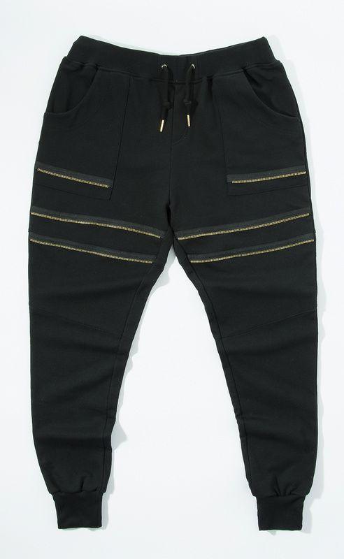 Streetwear para hombre de moda cremallera mosca pantalones de chándal  hombres basculador pantalones bálsamo   en da96a5170be0