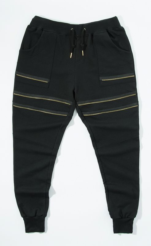 adf5619219 Streetwear para hombre de moda cremallera mosca pantalones de chándal  hombres basculador pantalones bálsamo   en