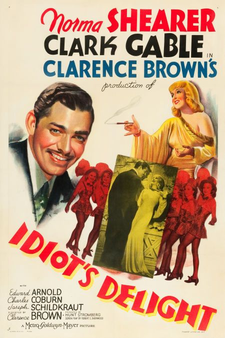 "The rare poster for a war's-edge comedy from MGM, ""Idiot's Delight."""