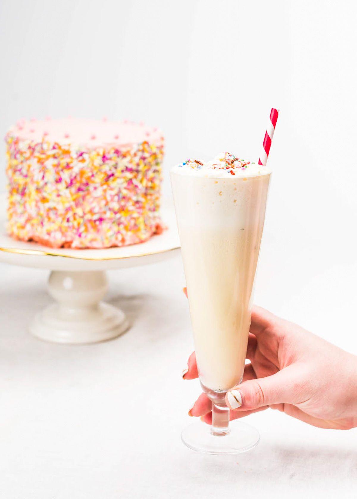 Excellent Birthday Cake Cocktail Recipe With Images Birthday Cocktails Personalised Birthday Cards Xaembasilily Jamesorg