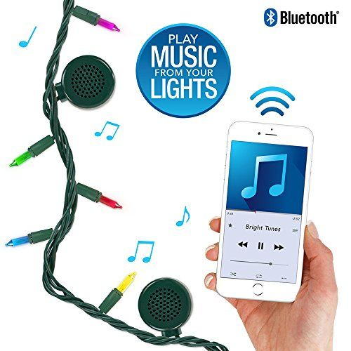 Bright Tunes Decorative String Lights with Bluetooth Speakers Traditional Tip 5color Incandescent Green Cord ** See this great product.Note:It is affiliate link to Amazon.