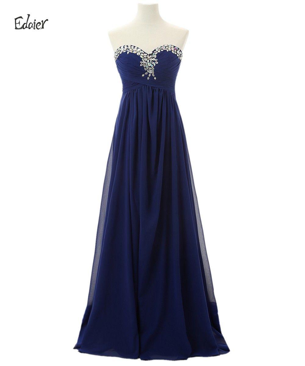 Click to buy ucuc edaier royal blue chiffon bridesmaid dresses banquet